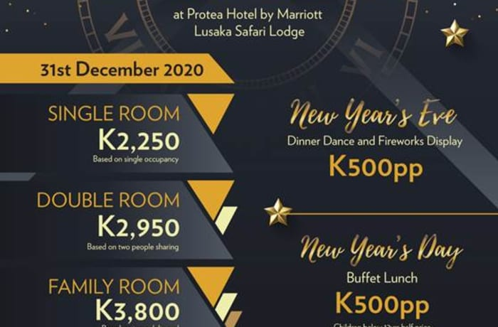 New Year's Eve Dinner Dance at Protea Marriott Hotel - Lusaka Safari Lodge image