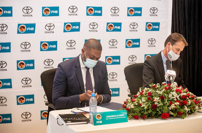 Toyota Zambia and FNB Zambia Partner To Launch The Guaranteed BuyBack Scheme image