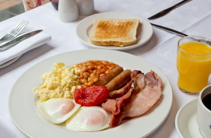 Extensive breakfast menu and beverage list image