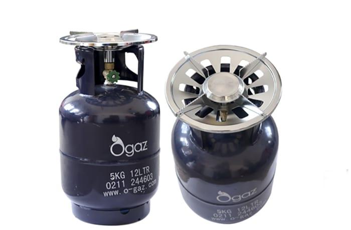 5kg cylinder, gas & cooker top