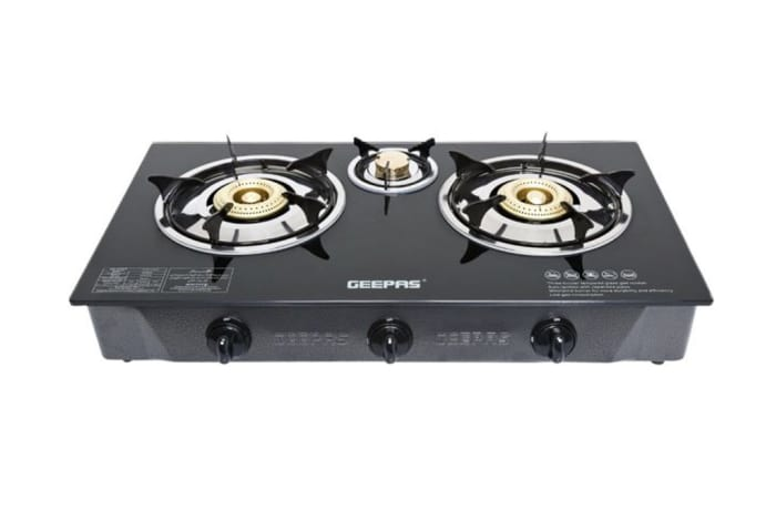Geepas - glass top stove 3 plate