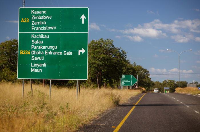 From Livingstone Airport to Kasane Town (Botswana)