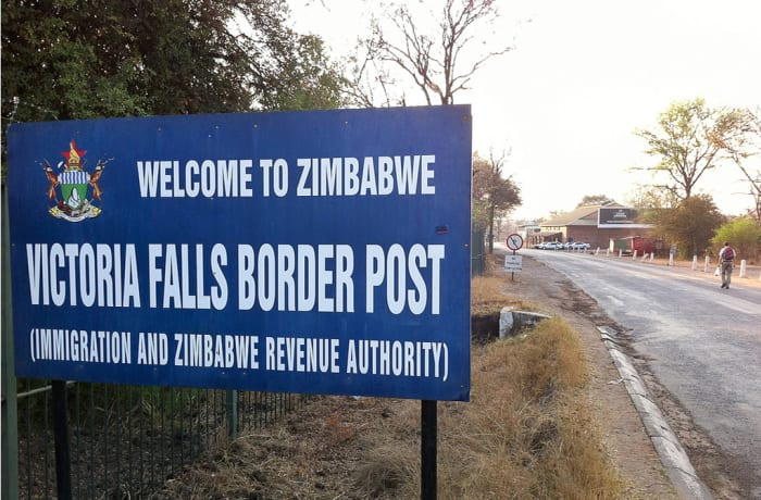 From Livingstone Airport to Zimbabwe  Boarder