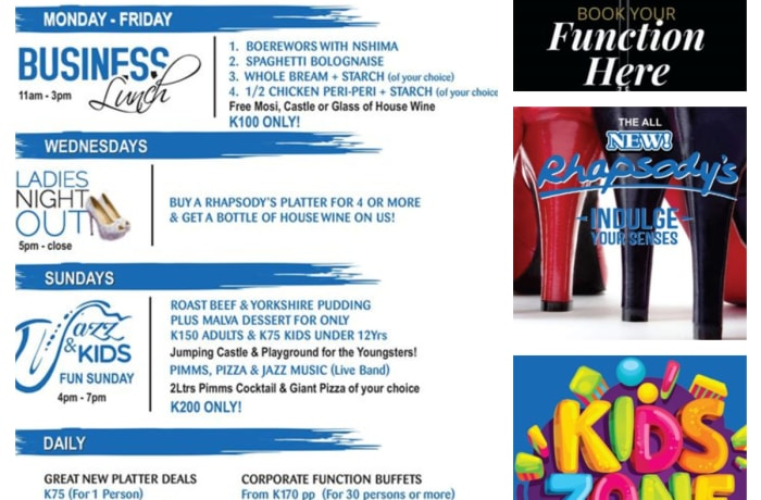 Weekly specials - from corporates to kids  image
