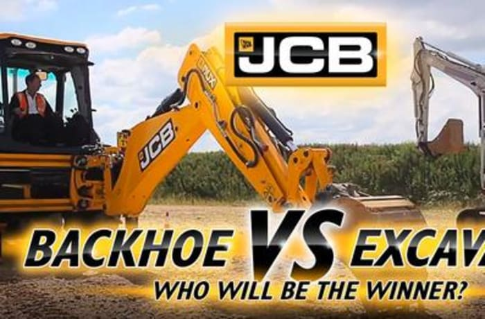 Backhoe vs excavator. Who will be the winner? image