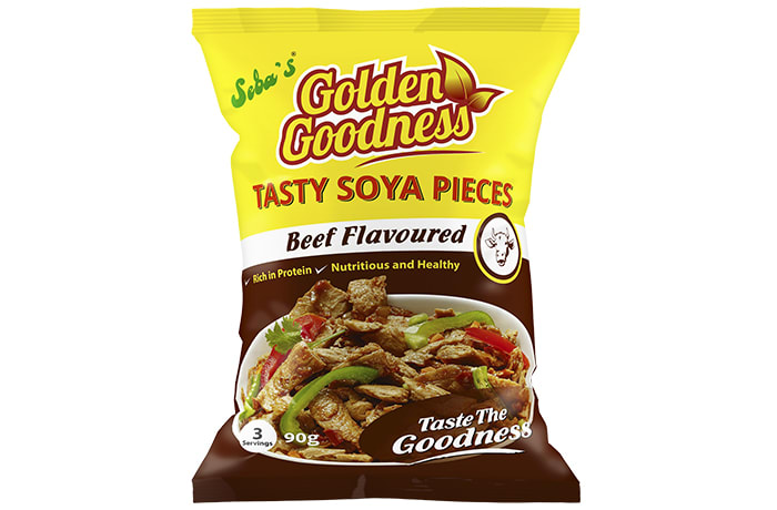 Golden Goodness Tasty Soya Pieces Beef Flavoured 90g