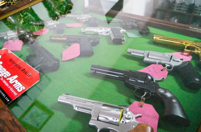 Guns and ammunition image