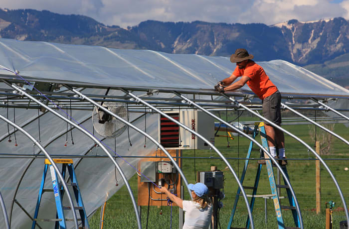 Pre-fabricated modular greenhouses image