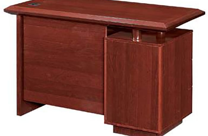 1.2 Metre Solid Wood Managerial Desk - Mahogony image