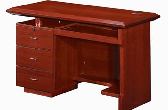 1.4 Metre Solid Wood Managerial Desk - Mahogony image