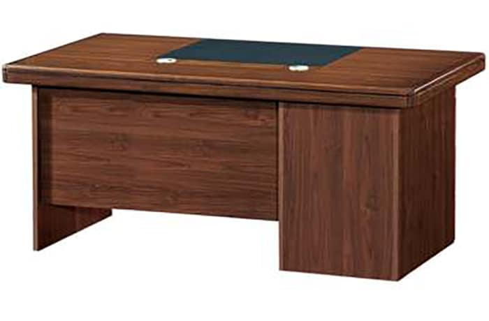 1.6 Metre Solid Wood Managerial Desk - Mahogany image