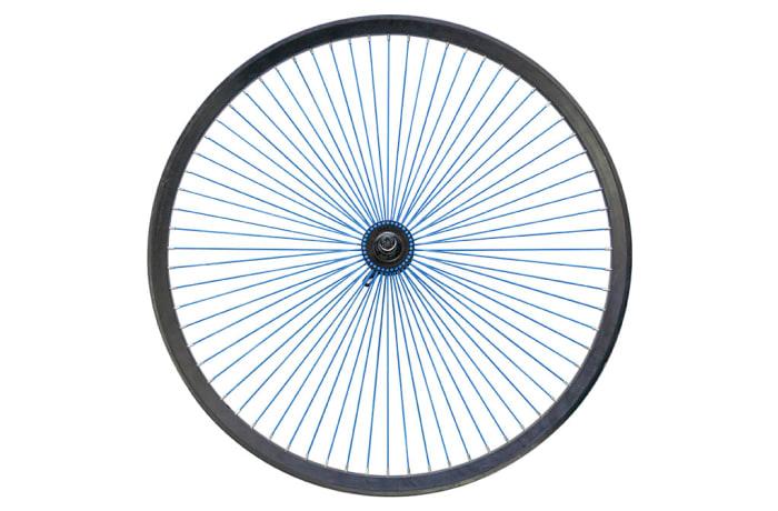 Rim Road Bike Aluminium Wheel  26inch Rim Blue Spokes image