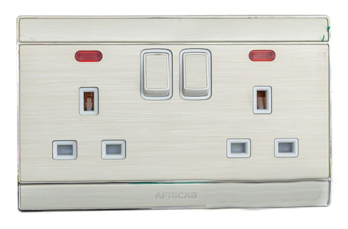 Africab - Double G Type Sockets with Switches and Indicators image