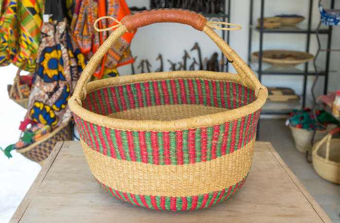 Handmade Bolga Market Basket image