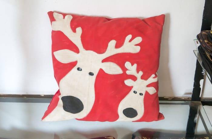 Red Deer Head Cushion  image