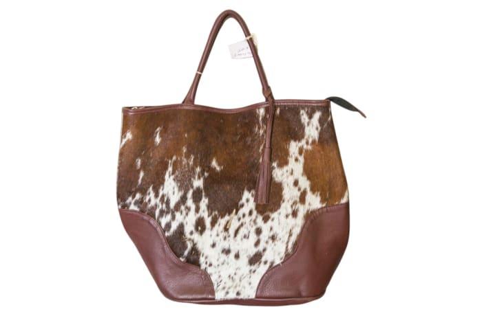 Shoulder Bag Hair on Cowhide Leather Tote Bag image