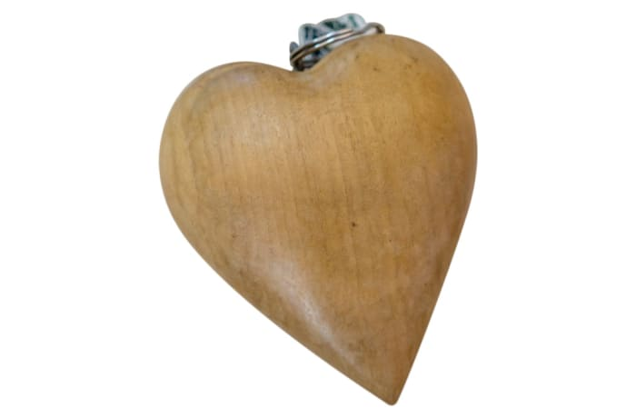 Key Ring Wooden  Heart Keyholder image