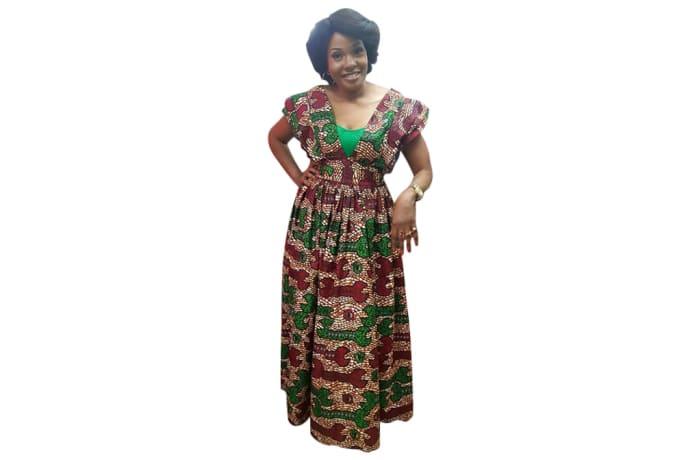 Long dress - African print dress image
