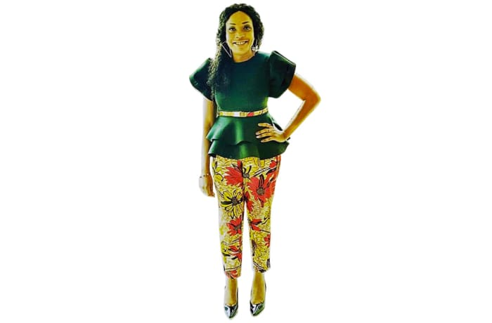 Pants - African Print Ladies Pants image