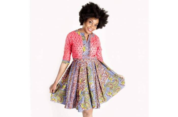 Short dress - African print short dress image