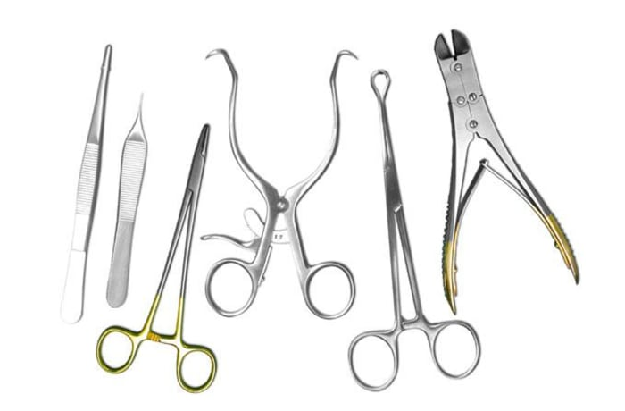 Mortuary set of 20 instruments image