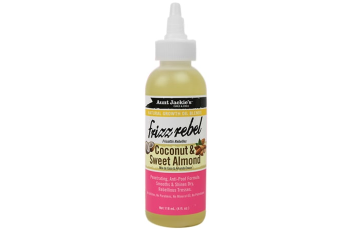 Frizz Rebel  Coconut & Sweet Almond Hair Treatment  Natural Growth Oil Blends 118ml image