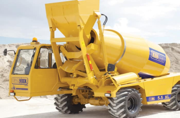 Mobile concrete on-site mixer and pump for hire - 1