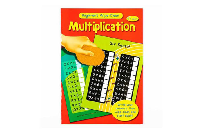 Beginner's  Maths  Wipe-Clean Multiplication  Work Book image