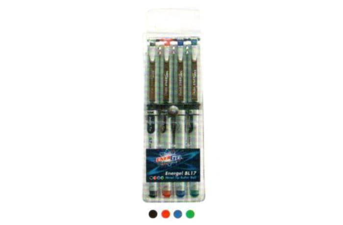 Energel Roller Pens - BL17-4W  EnerGel X Metal Tip Roller Ball - Wallet of 4 image