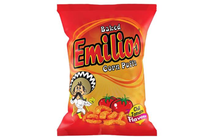 Emilios   Chili Tomato Corn Puffs  12 X 125g image