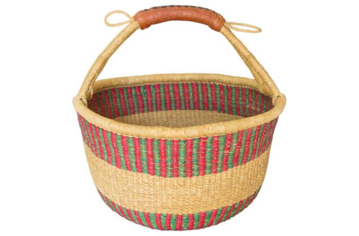 Basket African  Handmade Bolga Market Basket image