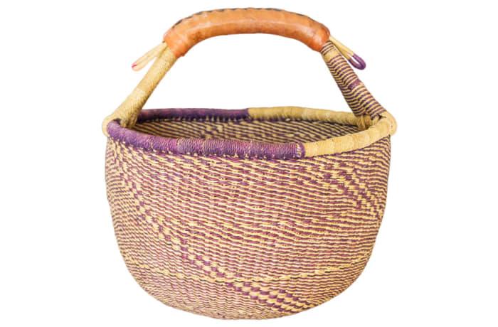 Basket Handmade  Bolga Market Basket image
