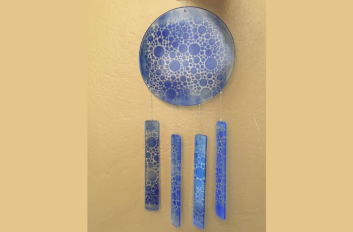 Blue glass wall hanging image
