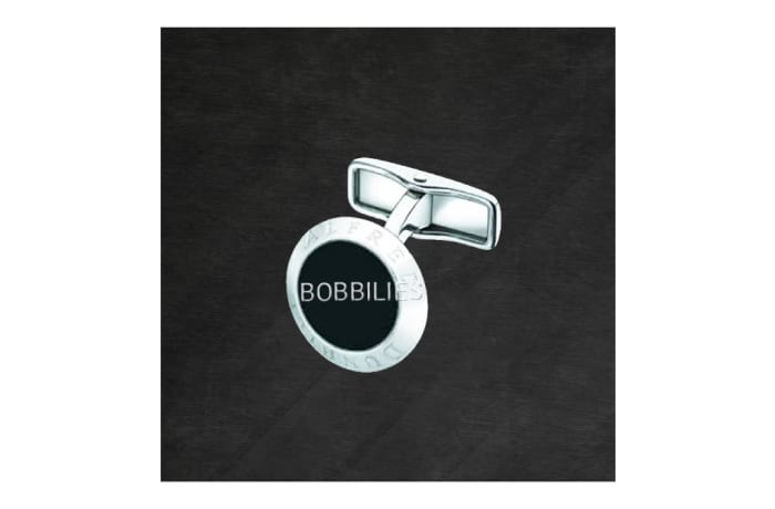 Round Silver Whale Back Cufflinks  image
