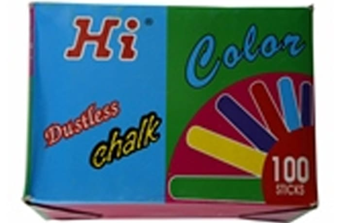 JY HI Coloured chalk 100 Sticks image