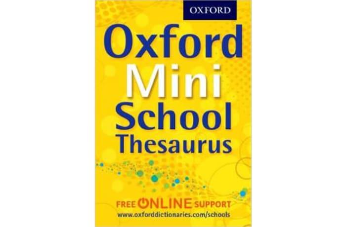 Oxford Mini School Thesaurus image
