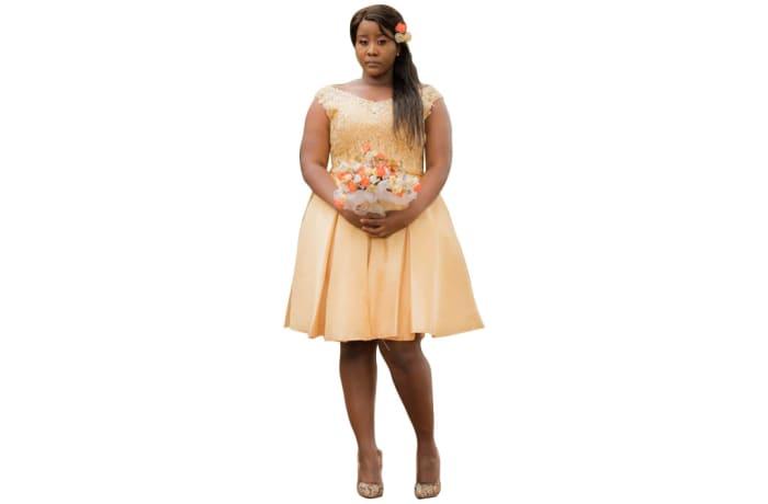 Bridal - Cream wedding bridal dress image
