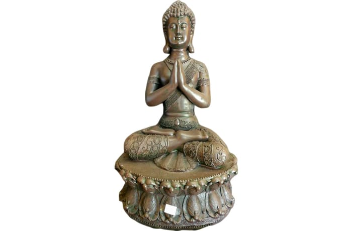 Buddha Statue  Meditating on Pedestal  image