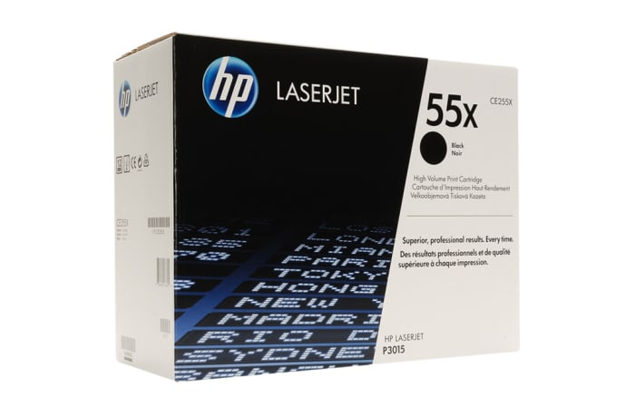 Printer Toner Cartridges - Hewlett Packard CE255X (HP 55X) High Yield Black Toner Cartridge image