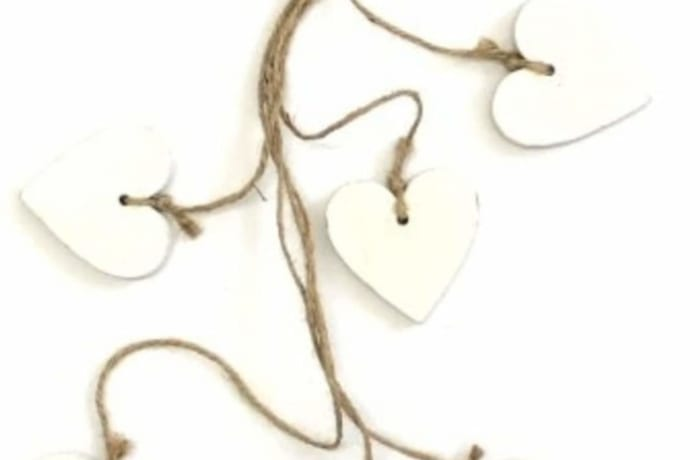 Decorative Wooden Hanging Hearts  image