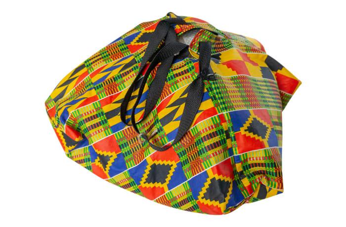 Chitenge Pyramid Bag with Yellow Patterns image