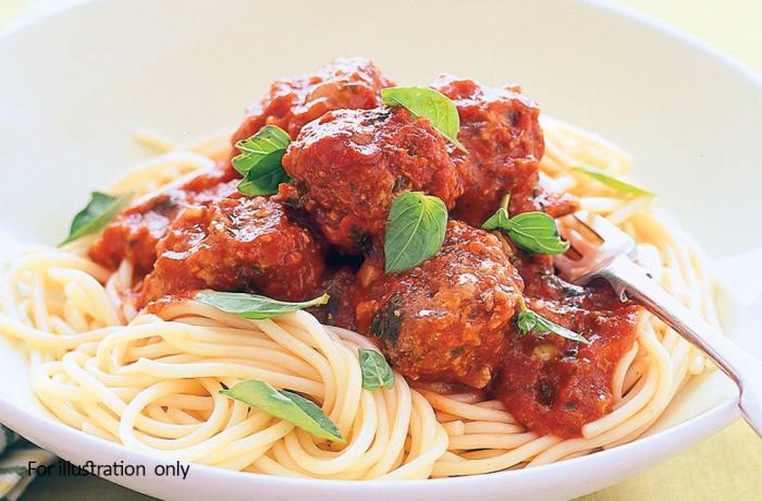 Kiddies Menu - Spaghetti with Meatballs image