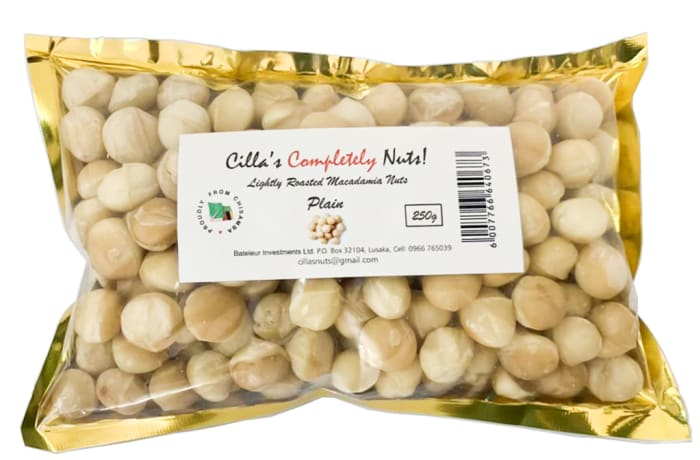 Cilla's Completely Nuts  Lightly Roasted Macadamia Nuts 250g  image