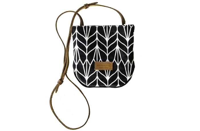 City bag in two tones fabric image
