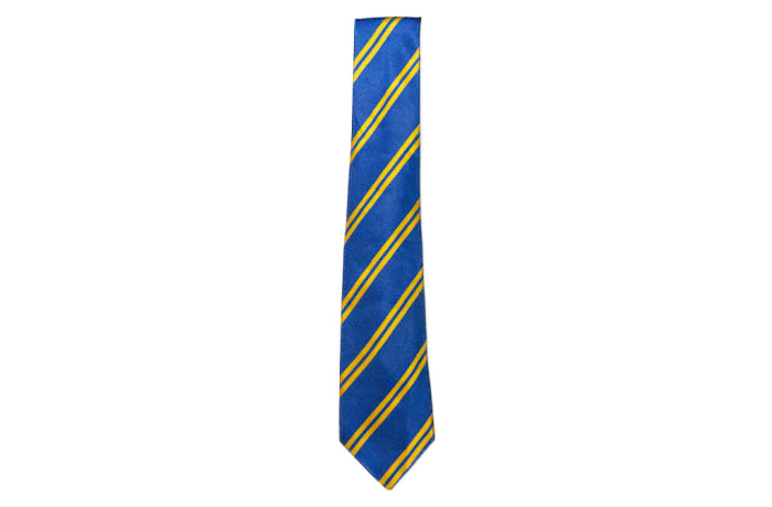Royal Blue with Gold Stripes Neck Tie  image