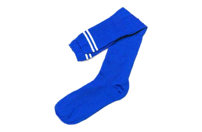 Royal Blue with White Stripes Stockings image