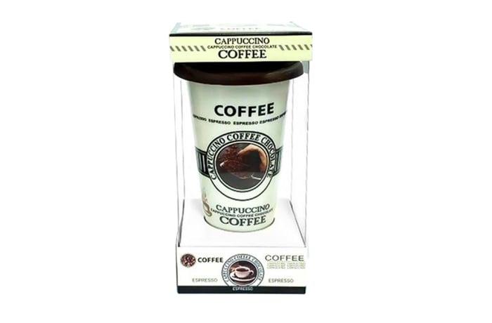 Coffee Mug Silicone Lid Coffe & Cappuccino Lovers image