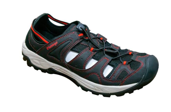 Crocs Flamingo Black & White Sneakers image