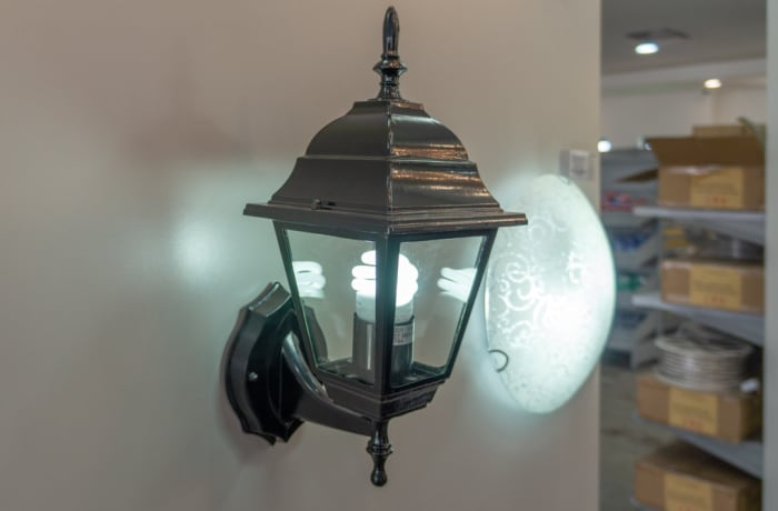 Eurolux Lantern 4 Panel Up Facing Black  image