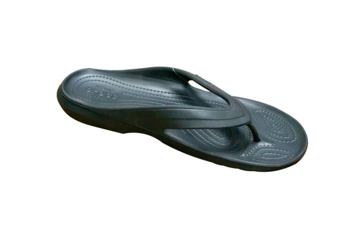 Crocs Unisex Crocband Black Flip Flops and House Slippers image
